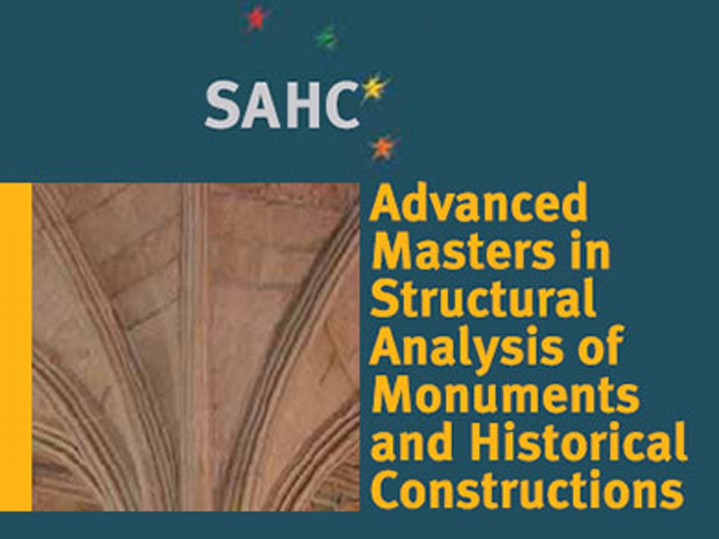 Master Course in Structural Analysis of Monuments and Historical Constructions (SAHC)